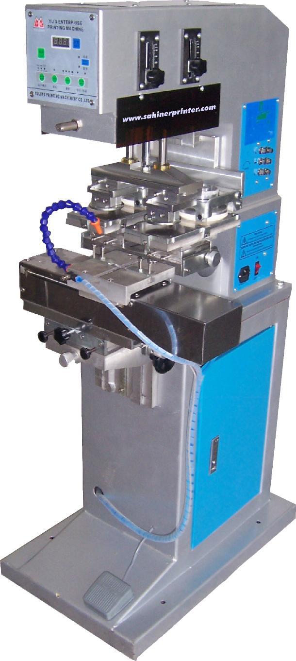 YYC 300-130 2 Renkli 13cm Kapalı Hazne Tampon Baskı Makinesi