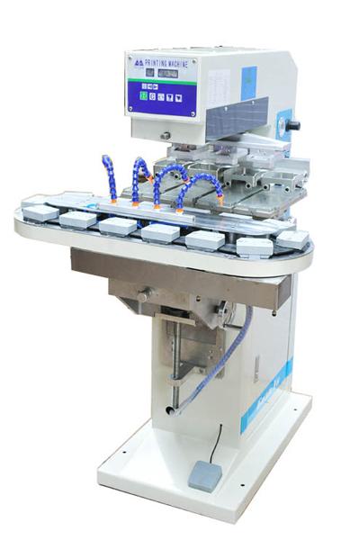 YYZ4 300-90 Dört Renkli 9cm Kapalı Hazne Tampon Baskı Makinesi