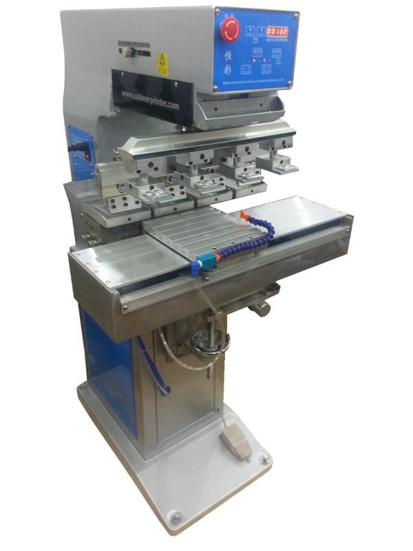 YYS4-200-150 Dört-Renkli 10x15cm. Açık Hazne Tampon Baskı Makinesi